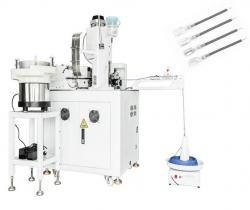 Automatic cable crimping sleeves insertion and twisting tinning machine WPM-018HS